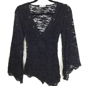 Body Central sheer Lace Top